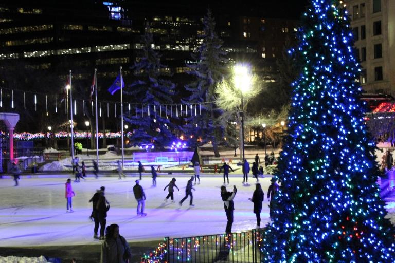 Tree, skates and fun
