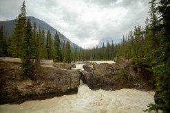 Natural bridge kicking horse river