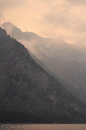 sunrise closeup mountains